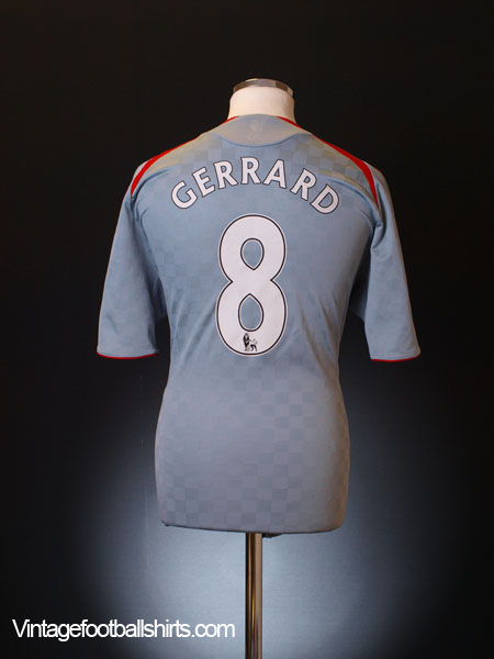 2008-09 Liverpool Away Shirt Gerrard #8 S