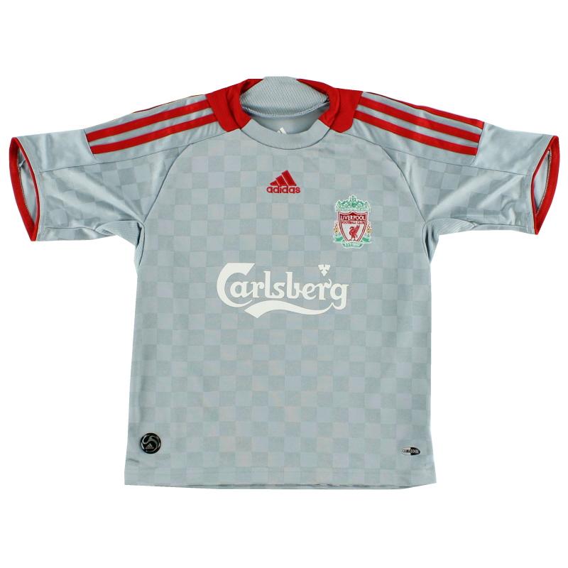 2008-09 Liverpool Away Shirt S.Boys