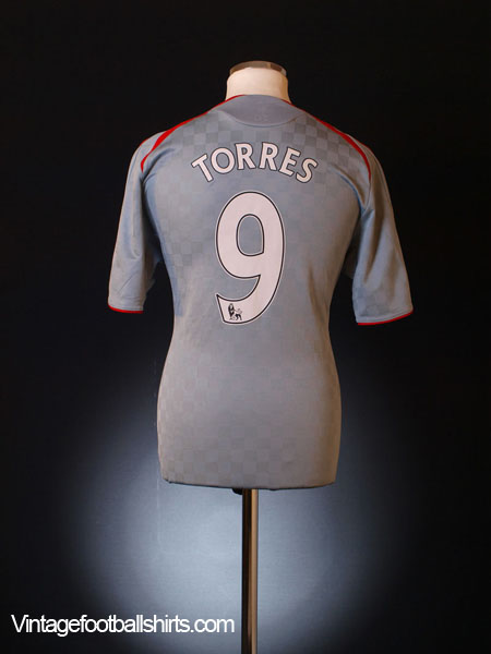 2008-09 Liverpool Away Shirt Torres #9 XL