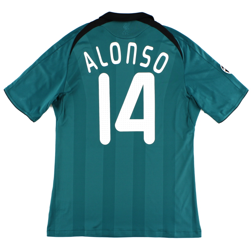 2008-09 Liverpool CL Third Shirt Alonso #14 M - 313164
