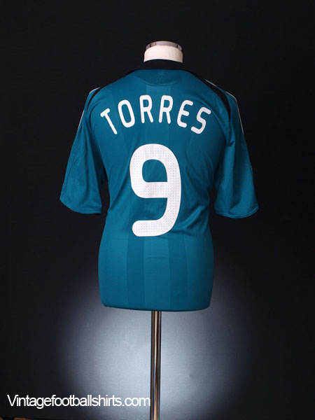 2008-09 Liverpool European Third Shirt Torres #9 *Mint* L
