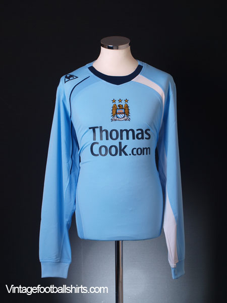 2008-09 Manchester City Home Shirt *As New* L/S L