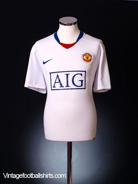 2008-09 Manchester United Away Shirt S