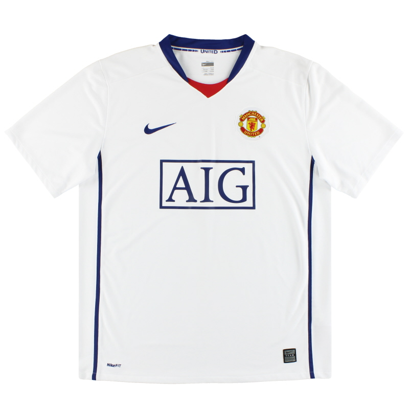 2008-09 Manchester United Away Shirt XXL
