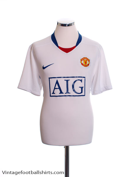 2008-09 Manchester United Away Shirt L - 287611-105