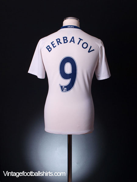 2008-09 Manchester United Away Shirt Berbatov #9 L