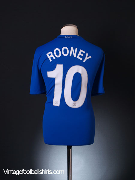 2008-09 Manchester United Champions League Third Shirt Rooney #10 L