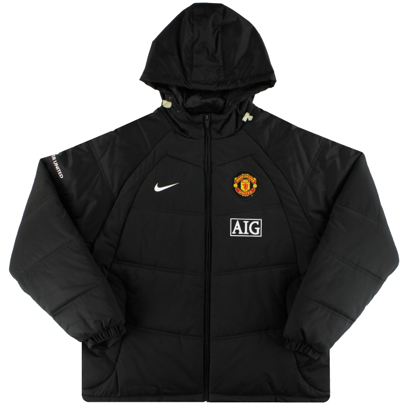 2008-09 Manchester United Nike Padded Bench Coat *As New* XXL - 325889-010