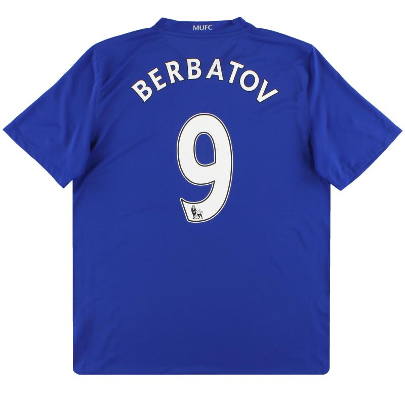 2008-09 Manchester United Nike Third Shirt Berbatov #9 L - 287615-403