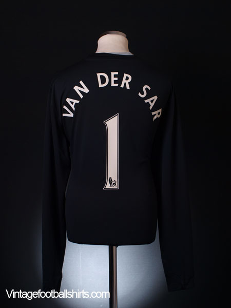 2008-09 Manchester United Player Issue Goalkeeper Shirt Van Der Sar #1