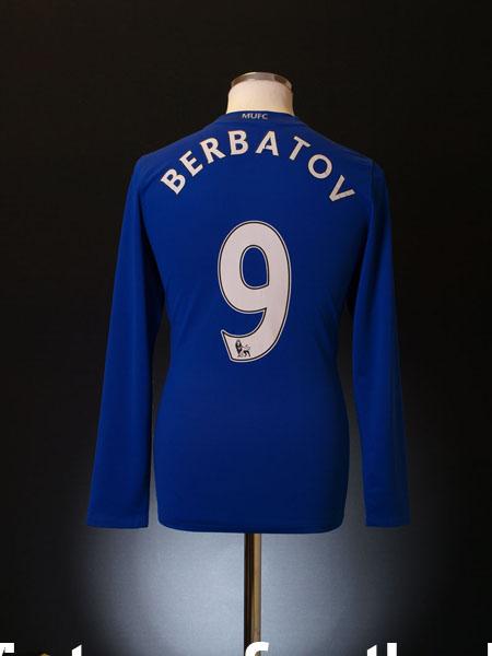 2008-09 Manchester United Third Shirt Berbatov #9 L/S S