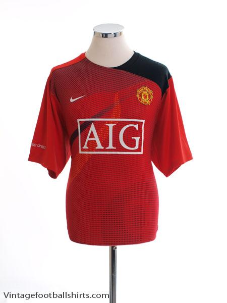 2008-09 Manchester United Training Shirt XL.Boys