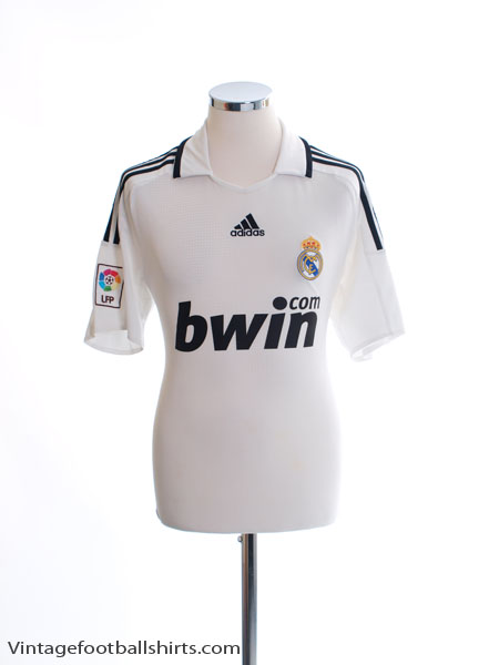 2008-09 Real Madrid Home Shirt S - 315118