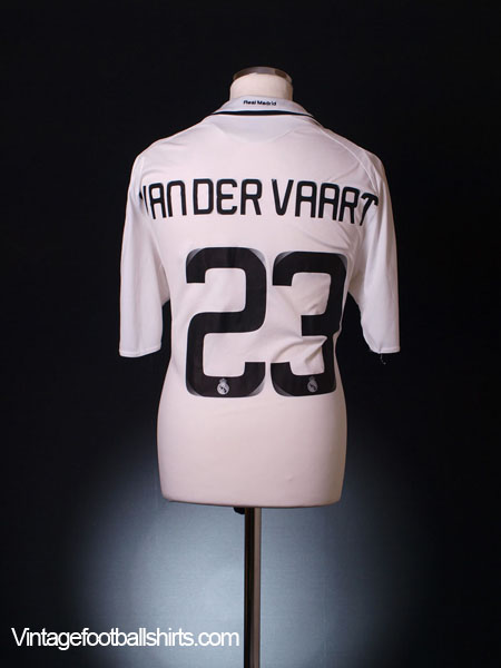 2008-09 Real Madrid Home Shirt Van Der Vaart #23 *Mint* L