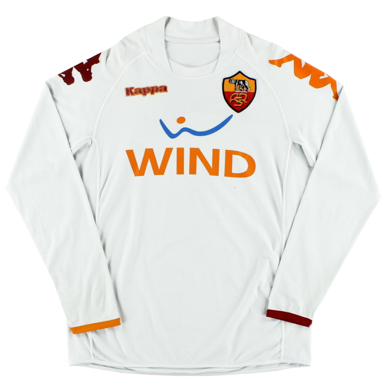 2008-09 Roma Away Shirt #7 L/S L