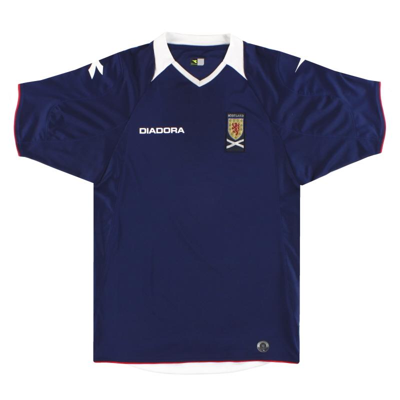 2008-09 Scotland Diadora Home Shirt L