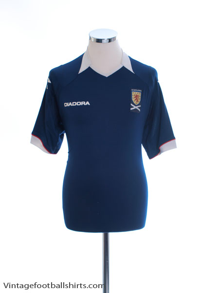 2008-09 Scotland Home Shirt L