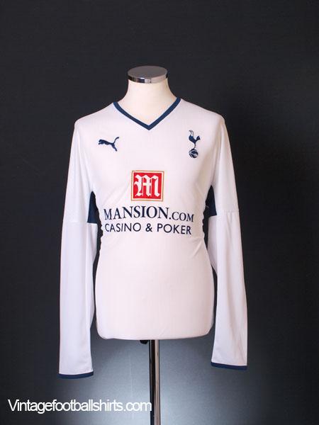2008-09 Tottenham Home Shirt L/S L