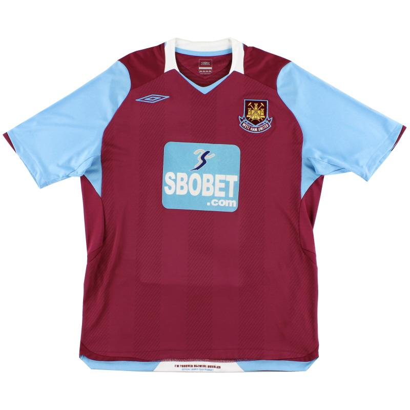 2008-09 West Ham Home Shirt L