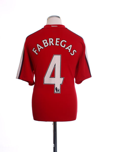 2008-10 Arsenal Home Shirt Fabregas #4 L