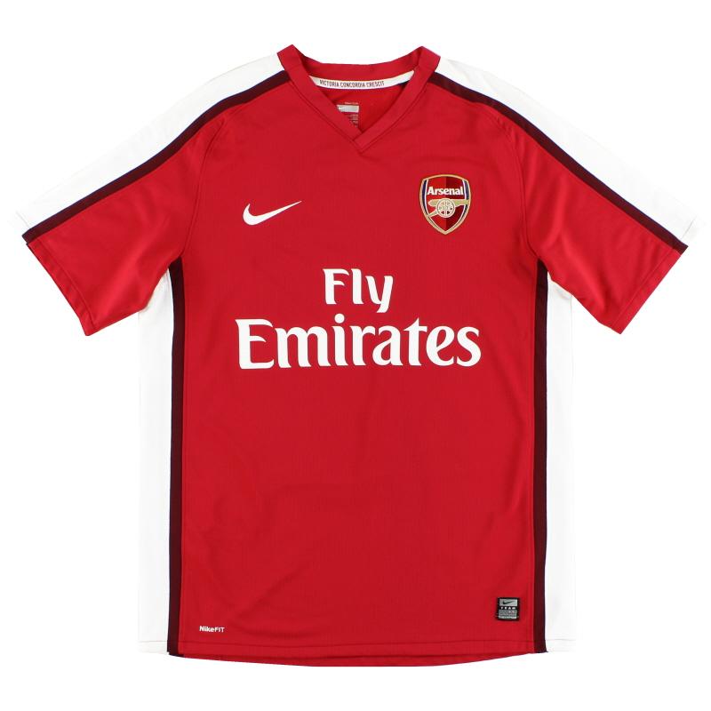 2008-10 Arsenal Nike Home Shirt M - 287535-614