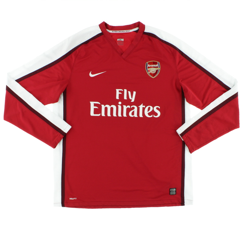 2008-10 Arsenal Home Shirt L/S XL  - 287536-614