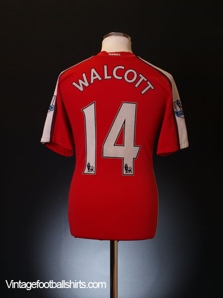 2008-10 Arsenal Home Shirt Walcott #14 M