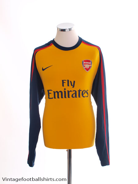 2008-10 Arsenal Player Issue European Away Shirt L/S XL