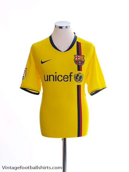 2008-10 Barcelona Away Shirt L