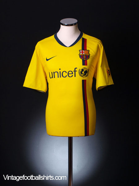 2008-10 Barcelona Away Shirt L