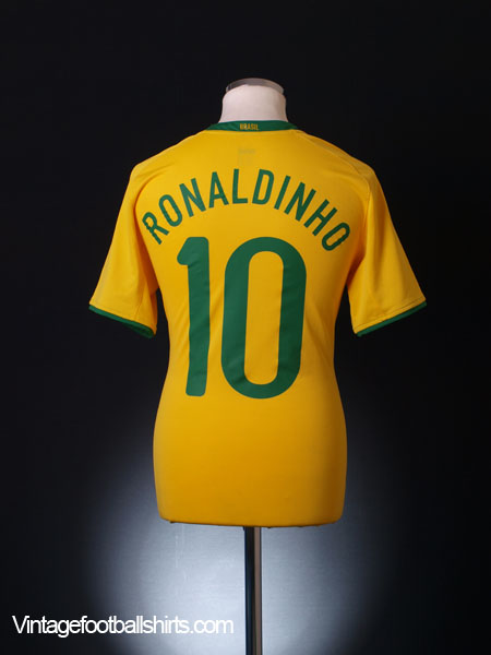 2008-10 Brazil Home Shirt Ronaldinho #10 XL