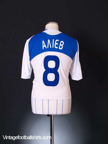 2008-10 Dynamo Kiev Match Issue Home Shirt Aliyev #8 M