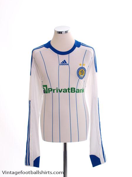 2008-10 Dynamo Kiev Player Issue Home Shirt L/S *Mint* L