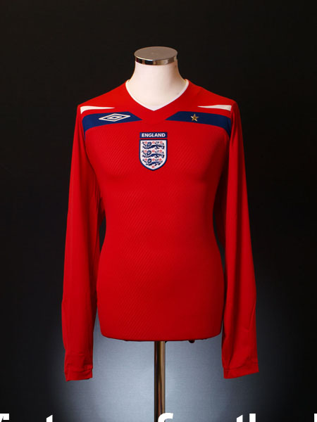 2008-10 England Away Shirt  L/S S