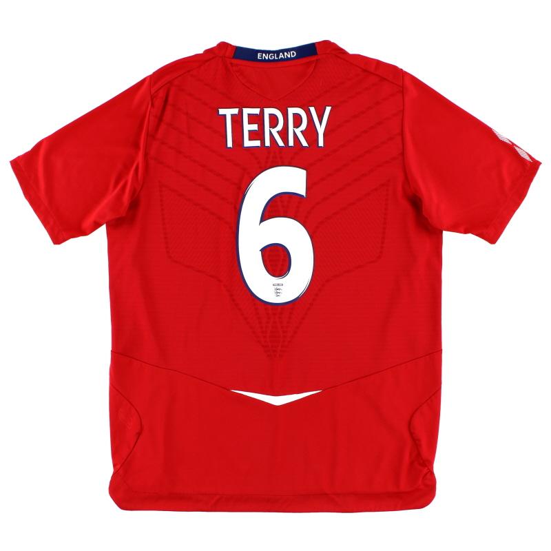 2008-10 England Away Shirt Terry #6 L