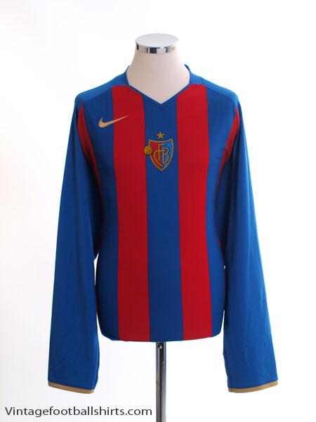 2008-10 FC Basel Home Shirt L/S XXL - 321650-493