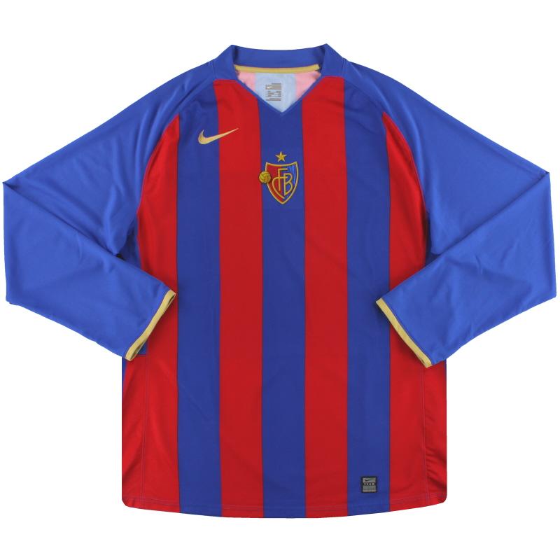 2008-10 FC Basel Nike Home Shirt L/S XXL - 321650-493