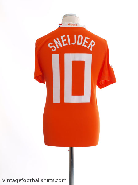 2008-10 Holland Home Shirt Sneijder #10 M