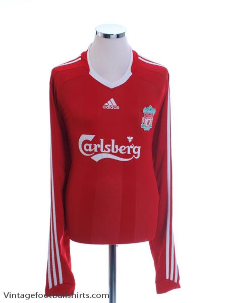2008-10 Liverpool Home Shirt L/S XXL