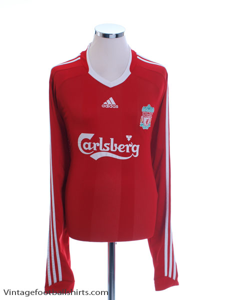 2008-10 Liverpool Home Shirt L/S XXL