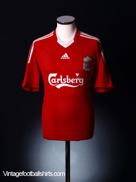 2008-10 Liverpool Home Shirt L