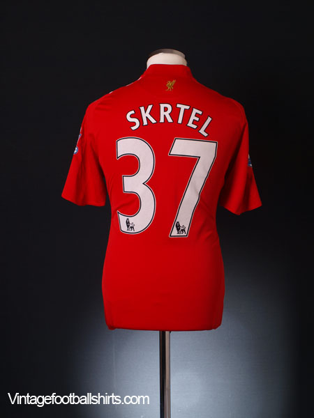 2008-10 Liverpool Home Shirt Skrtel #37 M