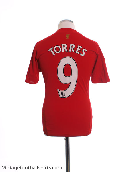 2008-10 Liverpool Home Shirt Torres #9 M.Boys