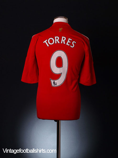 2008-10 Liverpool Home Shirt Torres #9 S