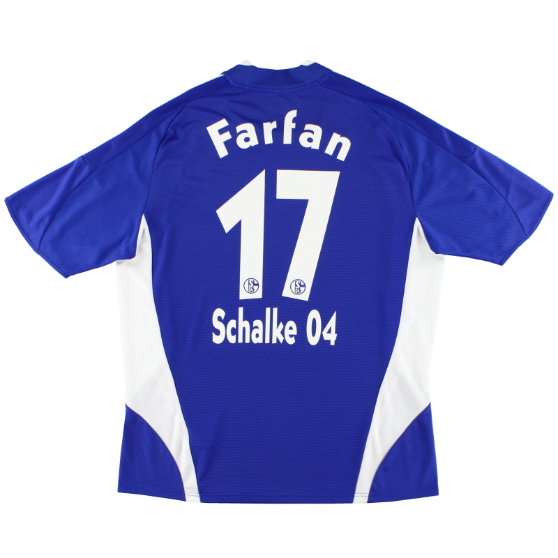2008-10 Schalke Home Shirt Farfan #17 XL - 693962