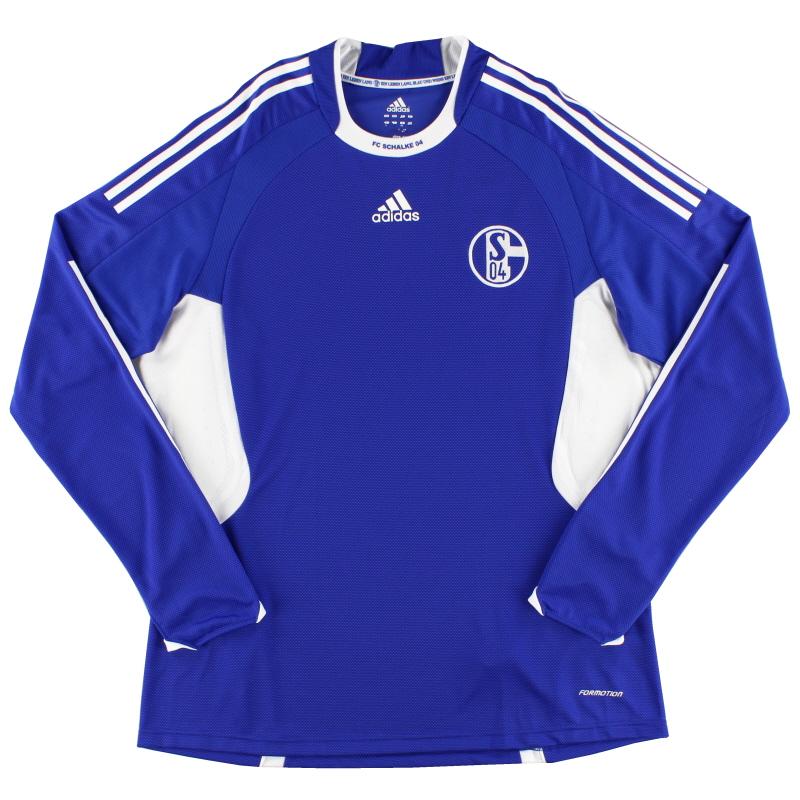 2008-10 Schalke Player Issue Home Shirt L/S XL - 693915
