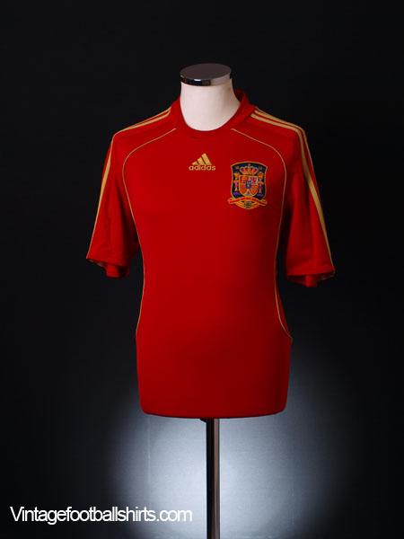 2008-10 Spain Home Shirt S