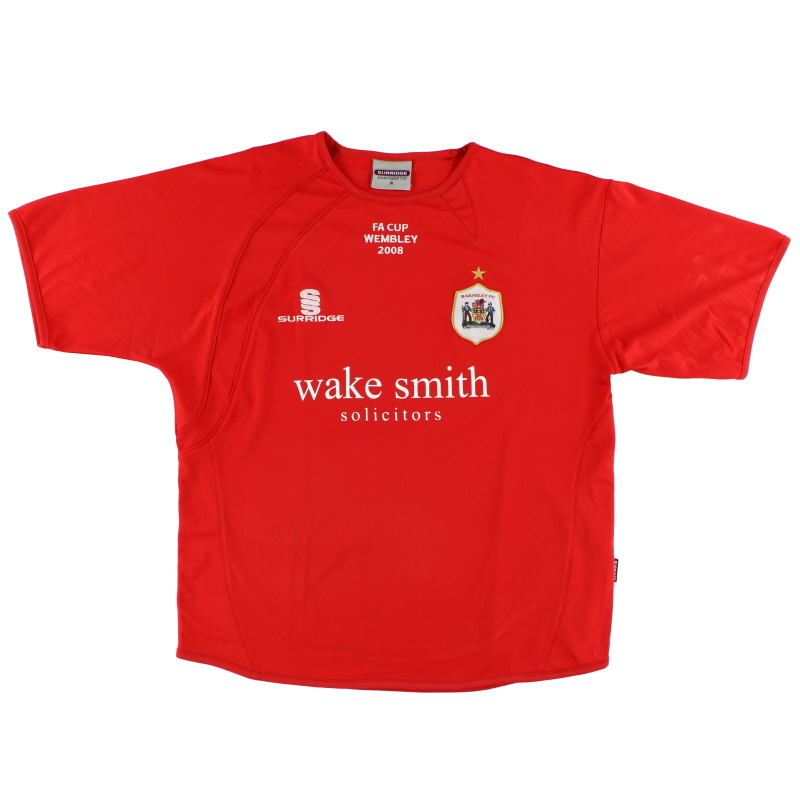 2008 Barnsley 'FA Cup Wembley' Home Shirt S