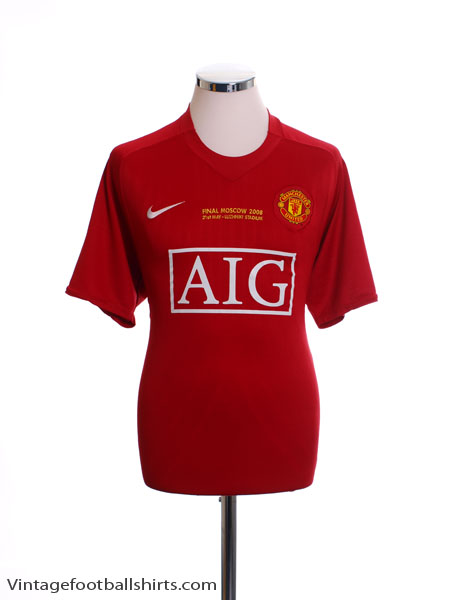 2008 Manchester United 'CL Final' Home Shirt L