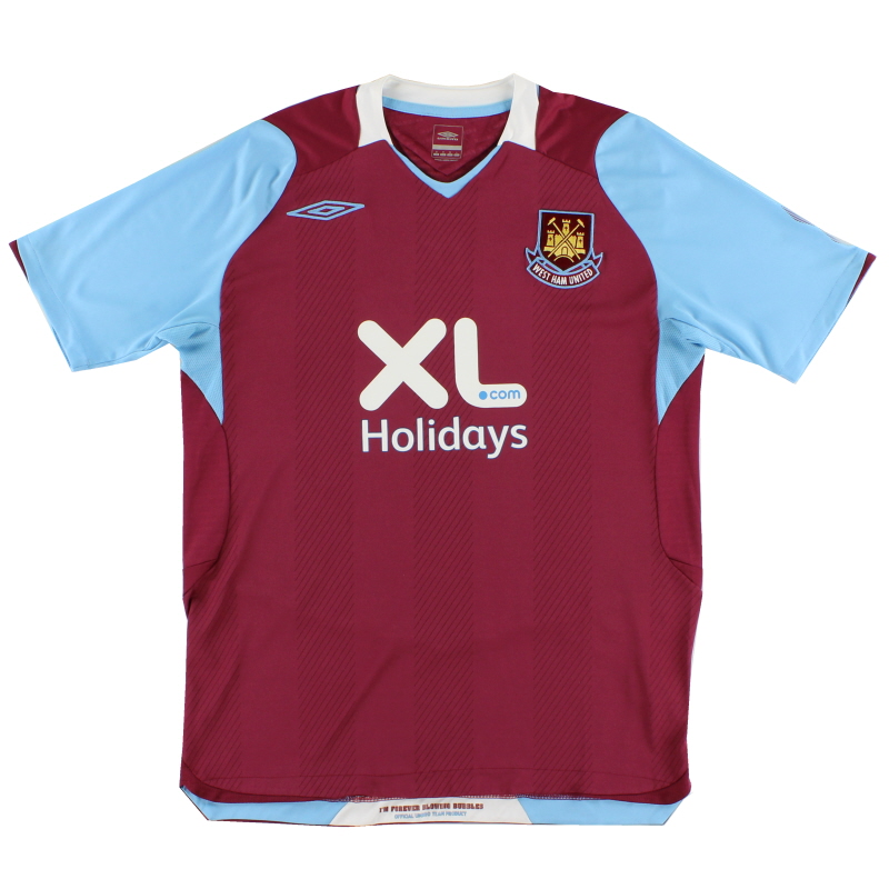 2008 West Ham Home Shirt S